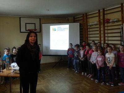 Podsumowanie działań związanych z Dniem Bezpiecznego Internetu w Szkole Podstawowej w Przecieszynie.