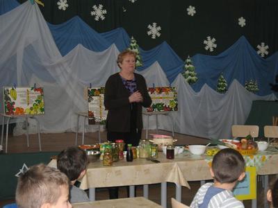 11 stycznia w ramach programu - Owoce i warzywa w szkole, odbyły się warsztaty kulinarne Zimowe zdrowie