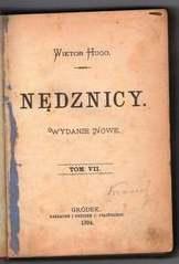 stare wydanie książki Wiktora Hugo - Nędznicy