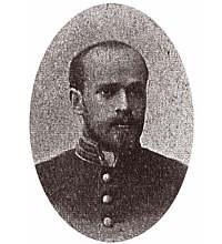 student Goldszmidt (Korczak) w mundurze studenckim