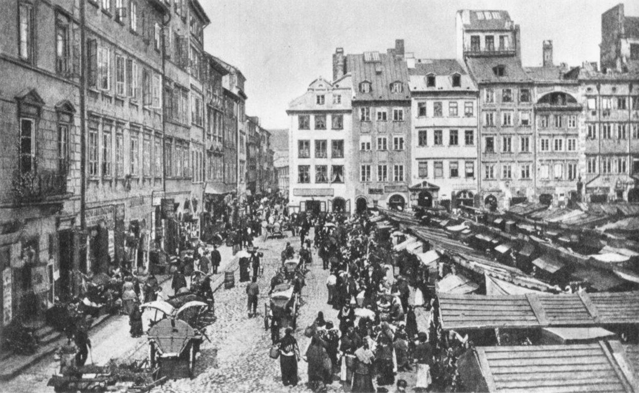 Rynek Starego Miasta w końcu XIX wieku