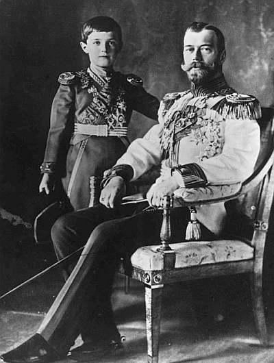 Car Mikołaj II z synem