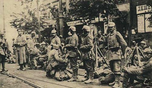 wojska niemieckie w Warszawie 1915