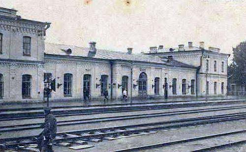 dworzec kolejowy w Równem, 1916