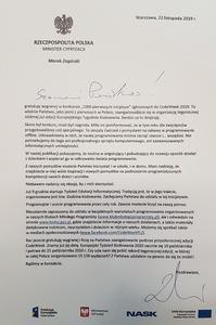 Treść listu od Ministra Cyfryzacji.