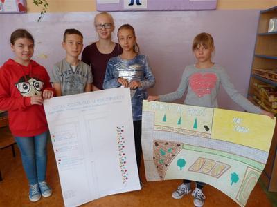 Projekt na zagospodarowanie niewykorzystanego miejsca w ogrodzie szkolnym na ogródek ekologiczny, jest c