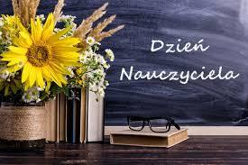 Kartka z życzeniami z okazji Dnia Nauczyciela.