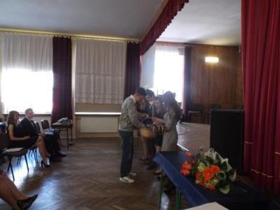 Na zdjęciu od od prawej Katarzyna Flis, Aneta Stręciwilk,Szymon Szostak, Magdalena Majewska,Damian Wój
