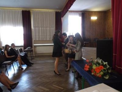 Na zdjęciu od od prawej Katarzyna Flis, Aneta Stręciwilk,Szymon Szostak, Magdalena Majewska,Adrianna Cy