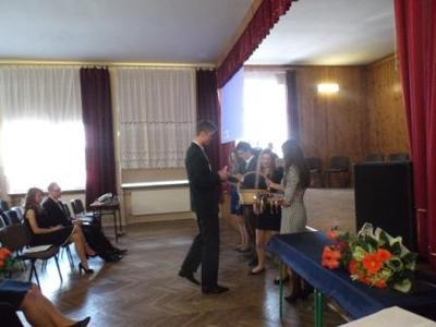 Na zdjęciu od od prawej Katarzyna Flis, Aneta Stręciwilk,Szymon Szostak, Magdalena Majewska,Adrian Wiec