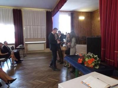 Na zdjęciu od od prawej Katarzyna Flis, Aneta Stręciwilk,Szymon Szostak, Magdalena Majewska,Artur Choma