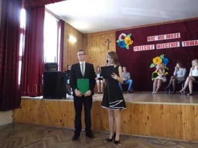 Na zdjęciu od prawej Marlena Warsińska, Piotr Kawęcki