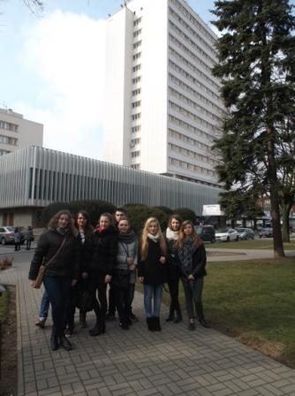 Na zdjęciu ja od lewej Magdalena Wereska, Patrycja Michalak, Aneta Stręciwilk, Grzegorz Sokół, Diana