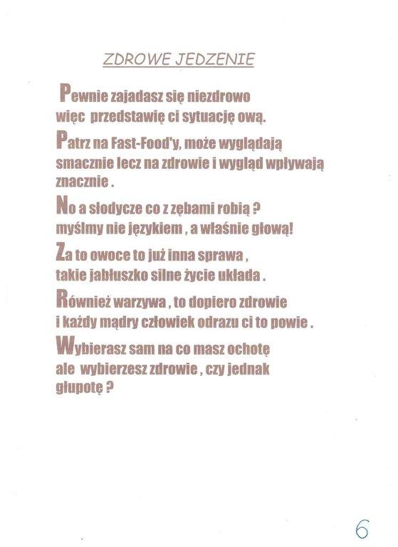 Zsp Sieraków śląski Konkurs Na Wiersz O Zdrowym Jedzeniu