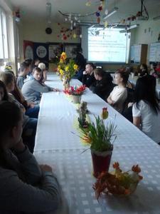 Dnia 27.03.2018r. odbyło się spotkanie integracyjne społeczności lokalnej w ZSCKU w Sulejowie w ramac