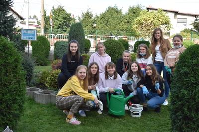 Klub wolontariatu - zdjęcie grupowe