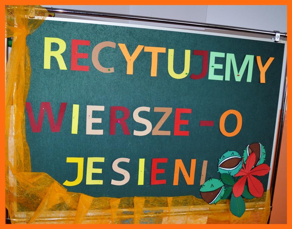 Szkoła Podstawowa W Sosnówce Recytujemy Wiersze O Jesieni