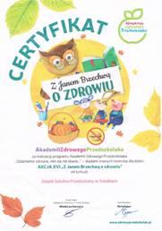 Certyfikat Jan Brzechwa